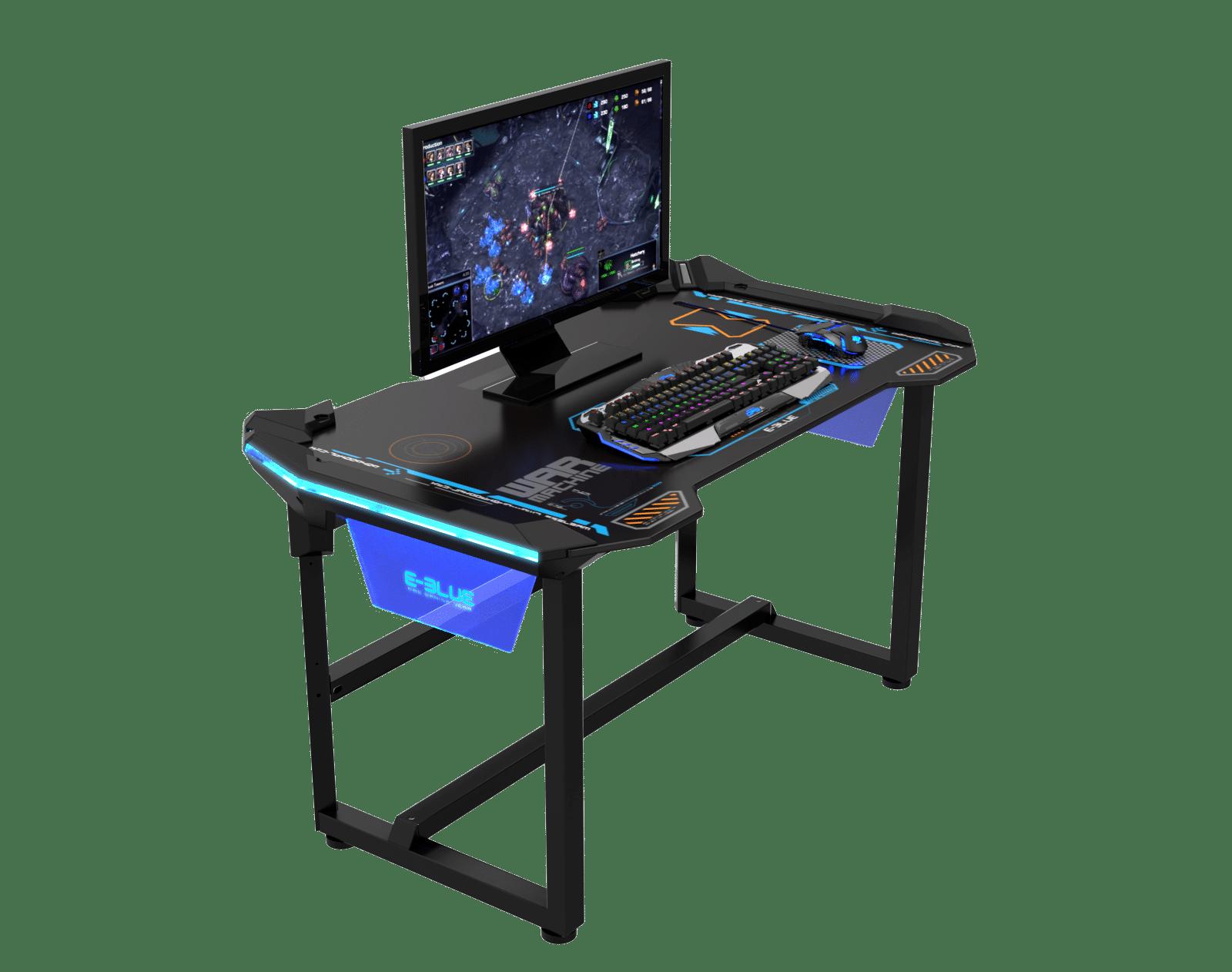 Table de jeu e sport led connecté retro Éclairée e blue