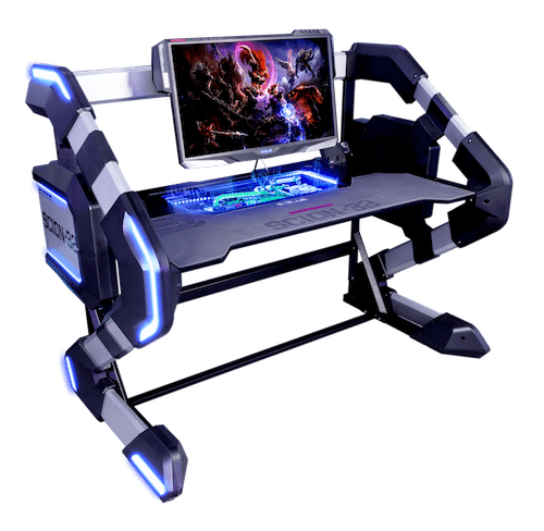 table de jeu e sport led connect retro clair e e blue. Black Bedroom Furniture Sets. Home Design Ideas